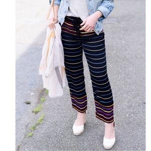 🌈❤️NWOT LOFT striped fluid pants pants sz SP